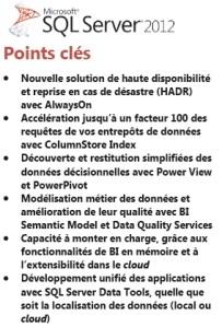 SQL 2012 Points clé